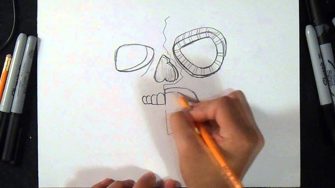 Comment dessiner un masque gaz graffiti youtube - Masque a dessiner ...