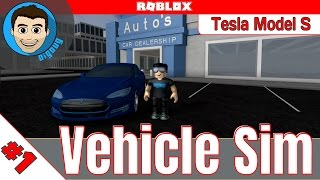 Roblox: Vehicle Simulator : Ep 1 : DigDug Edition Tesla Model S