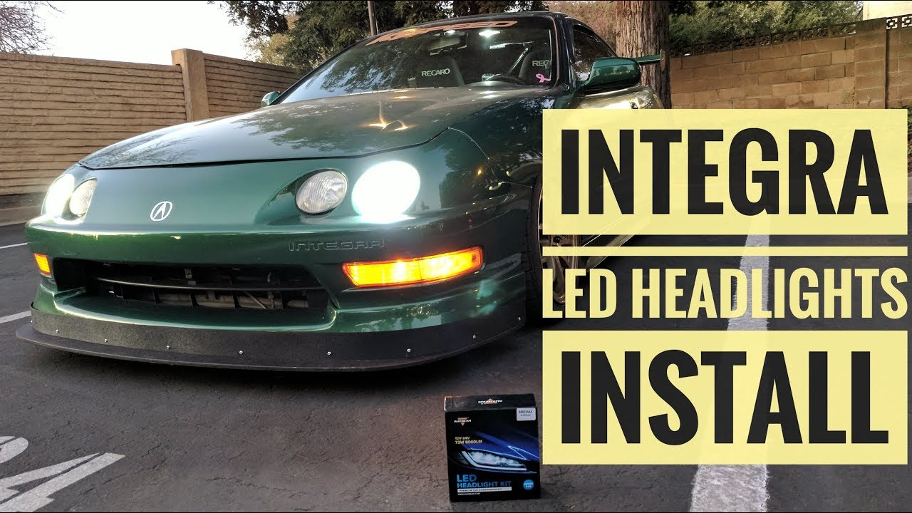 Replacing Integra Headlight Bulbs To Auxbeam S3 Series 9006 Hb4 Vlog 11