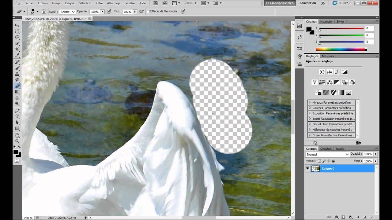 Tutoriel Photoshop Supprimer L Arriere Plan D Une Photo Youtube