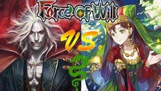 "Force of Will (TCG) Feature Game: R/B Dracula Vs GU Scheherazade ""Arabian nights"""