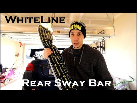 Whiteline Rear Sway Bar Installation and Review // 2017 Subaru WRX STI