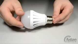 Аварийная лампа с аккумулятором E27, 220V 5W Emergency(Светодиодная лампа E27 с аккумулятором это осветительный элемент который должен быть в любом доме, на случай..., 2015-04-23T09:42:09.000Z)