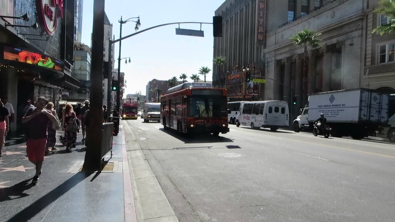 LACMTA Metrobus: La Cienega/Jefferson bound 40-LFW CNG 7085 Rt 217 at  Hollywood Blvd/Highland Av