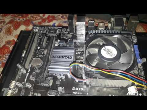 How To Change Thermal Paste/Gel On Gigabyte Motherboard Northbridge and Southbridge