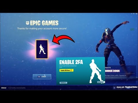 FORTNITE IN DEPTH TUTORIAL HOW TO GET FREE BOOGIE DOWN EMOTE HOW TO ENABLE TWO FACTOR ON FORNITE!