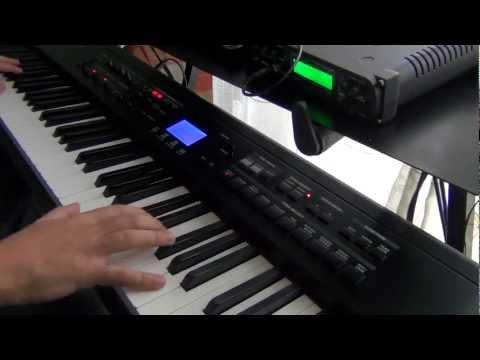 Sally di Vasco Rossi con il pianoforte o la tastiera
