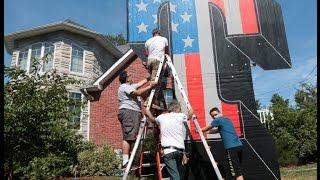 Pro-Trump T sign rises again