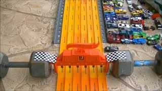 "HOT WHEELS DRAG RACING ""KING OF THE HILL"" 7-2014 RACE"
