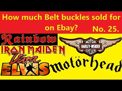How much Belt buckles sold for on EBay? No. 25.
