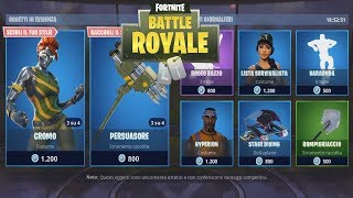 FORTNITE -SHOP 11/05 - NEW SKIN CROMO/PRESSOFUOCO - NEW PICCONE - NEW DELTAPLANO