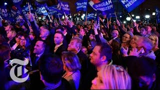 Marine Le Pen And Emmanuel Macron Supporters Ecstatic   The New York Times