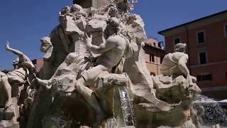 видео Фонтан 4-х Рек на площади Навона в Риме