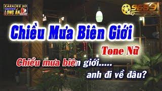 Karaoke Chiều Mưa Biên Giới Tone Nữ   nhạc sĩ Nguyễn Văn Đông   Karaoke nhạc sống 9669 mới nhất