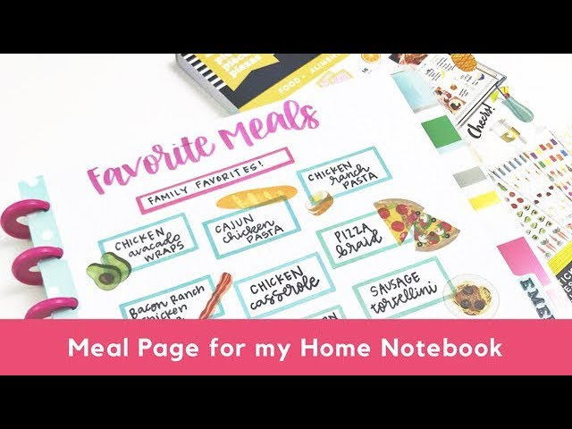 favorite-meals-page-for-my-home-notebook