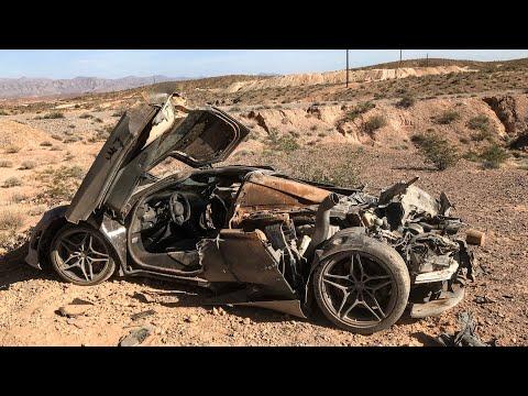 POLICE FIND ABANDONED MCLAREN 720S DESTROYED IN LAS VEGAS DESERT