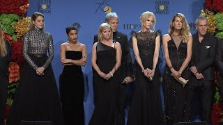 'Big Little Lies' Cast Golden Globes Press Room: Watch Reese Witherspoon's Oprah Impression!