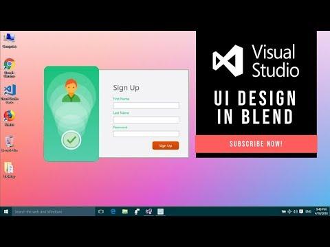 UI Design: Storyboard in Visual Studio Blend 2015 ( Sign Up UI)