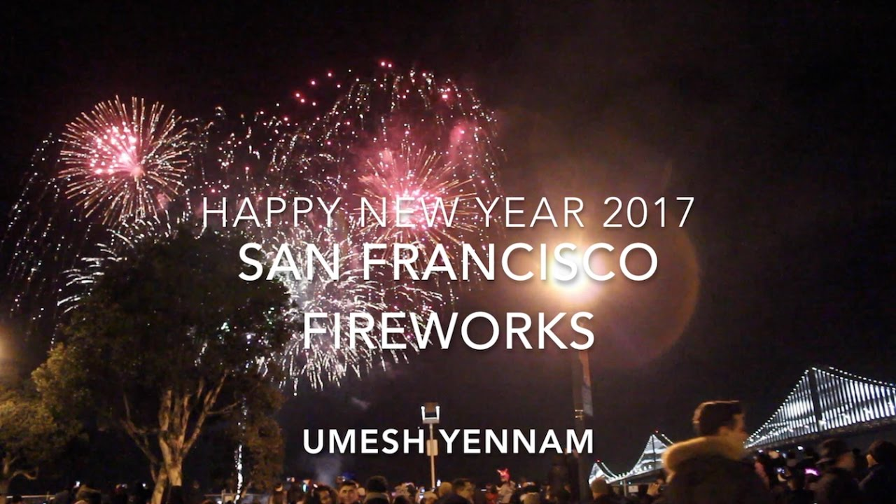 san francisco fireworks happy new year 2017