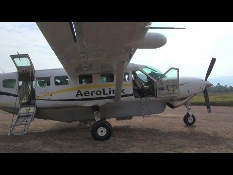 Aerolink flight, Entebbe to Kihihi, Uganda, Cessna Caravan 208B