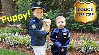 Little Heroes  The New K9 PUPPY Cop Stolen by Wolverine the Superhero a Funny Kids YouTube Video wit