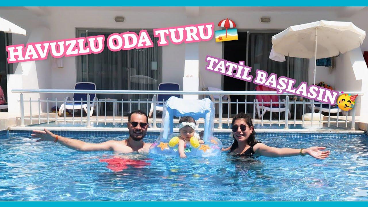 Download TATİLDEYİZ❤️EFSANE HAVUZLU ODA TURU🥳BEBEKLE İLK TATİL VLOG