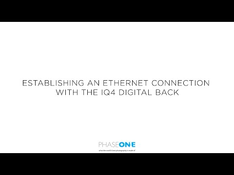 Support | Establishing an ethernet connection on the IQ4 digital back | Phase One