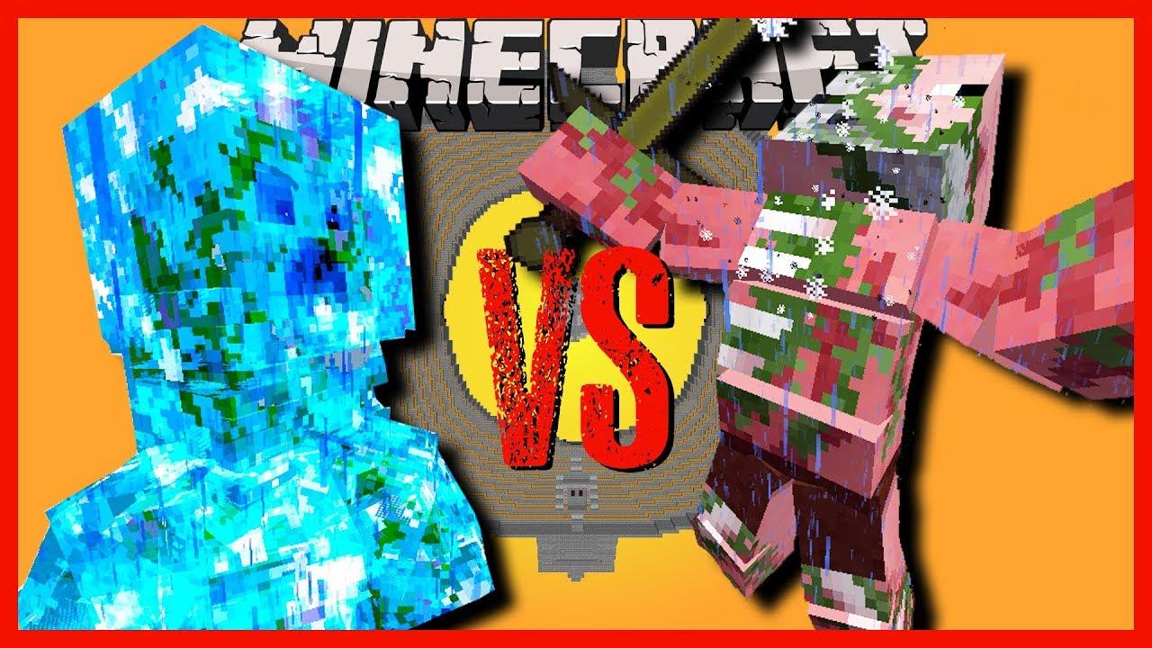 Minecraft charged creeper titan vs snow golem spider - Minecraft zombie vs creeper ...