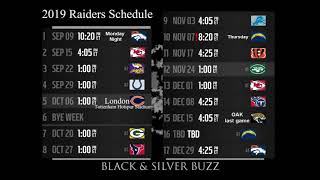 2019 Raiders Schedule Times and Dates