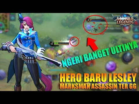 HERO BARU SNIPER LESLEY ULTINYA SADIS BANGET ANJAY - Mobile Legends Indonesia