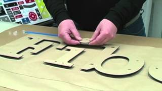 Three Dimensional Signage with the Quick Snap System