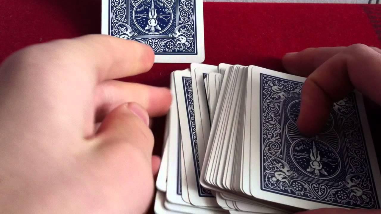 tour de magie retrouver une carte