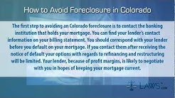 How to stop foreclosure in Colorado