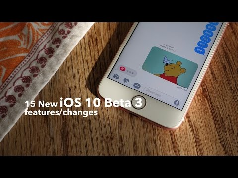 15 new iOS 10 beta 3 features / changes!