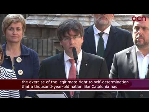 Catalonia to hold independence referendum on October 1, 2017