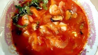 видео Томатный суп из морепродуктов