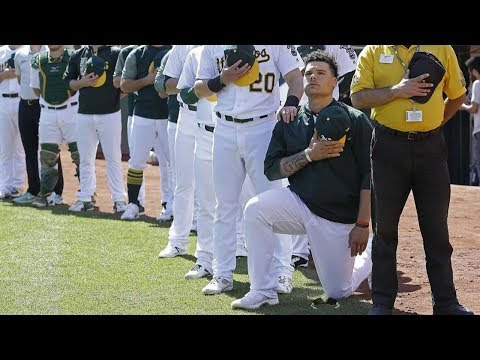 Bruce Maxwell Becomes FIRST MLB Player to Kneel During National Anthem