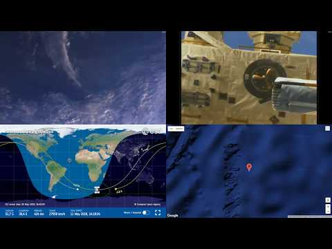 Sunset Around South Africa - NASA/ESA ISS LIVE From Space With Map - 31 - 2018-05-11