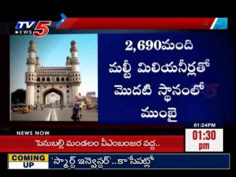 Top 20 Cities in India | Hyderabad is a One of The Rich City : TV5 News