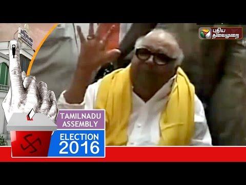 DMK President Karunanidhi Casts his Vote in Gopalapuram