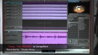 3ピースバンドの録音を、MacのGarageBandを使ってマルチレコーディング...