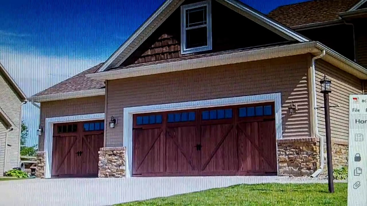 chi 5217 accents flush overlay garage doors & chi 5217 accents flush overlay garage doors - YouTube