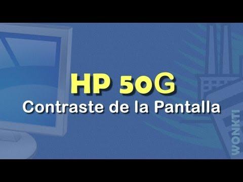 HP 50G: Contraste de la Pantalla