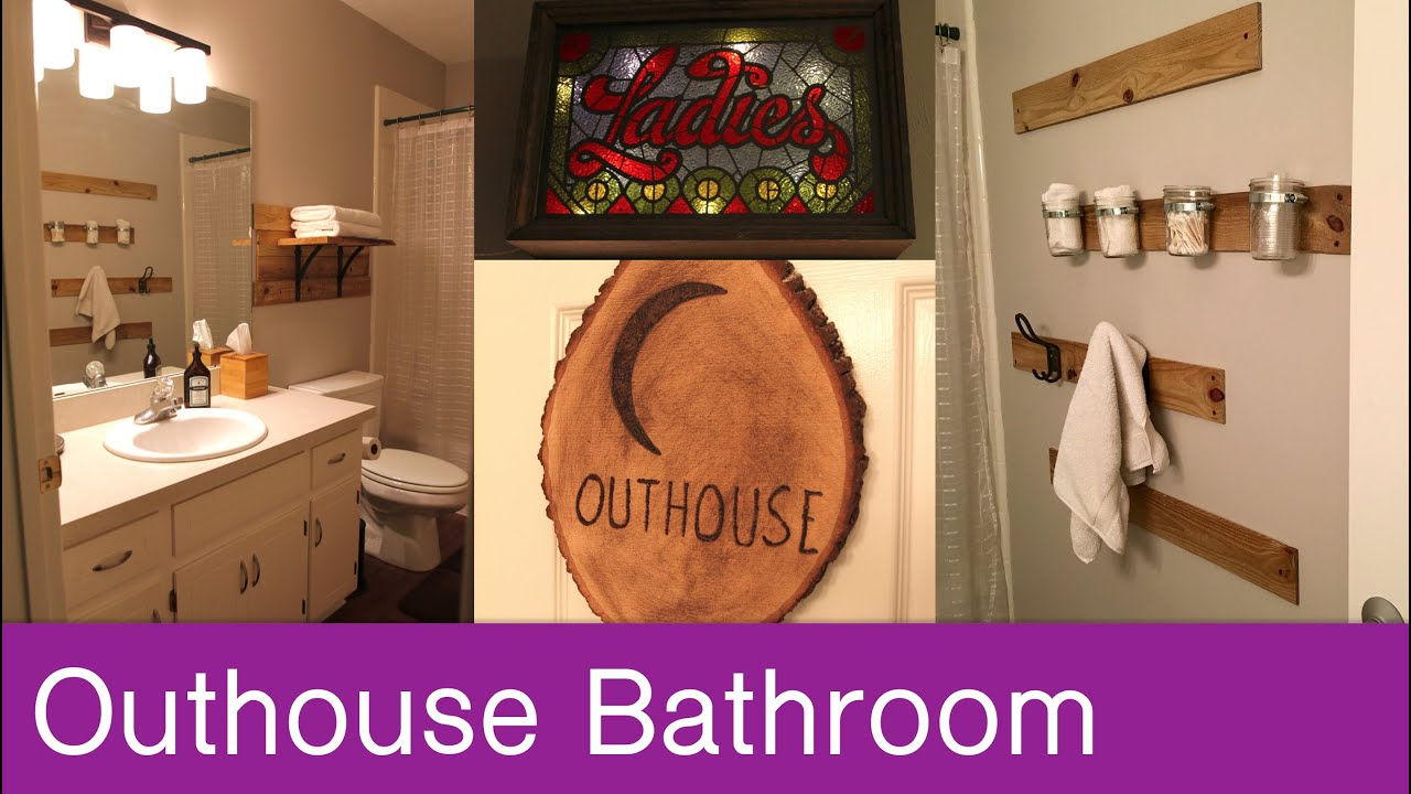 Outhouse Themed Bathroom Tour You
