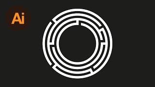Learn How To Create a Maze Symbol in Adobe Illustrator | Dansky