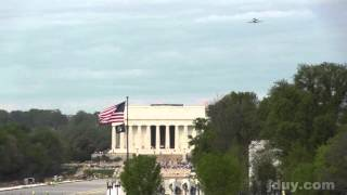 INSANELY CLOSE shots: Space Shuttle Discovery over DC, White House, Capitol, Monuments