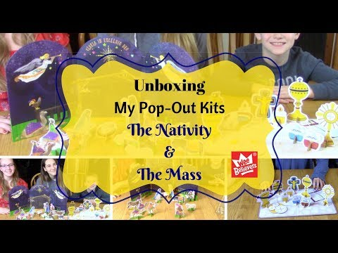 Unboxing My Pop-Out the Nativity and the Mass Kits