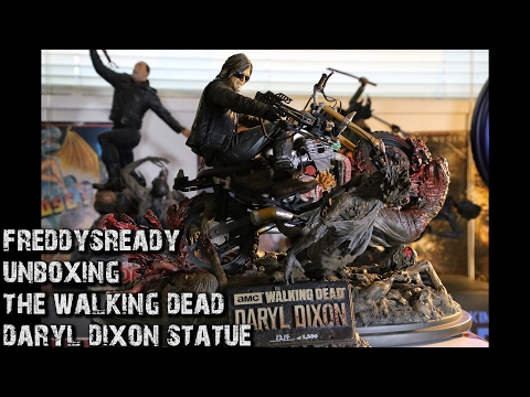 Unboxing Daryl Dixon Resin Statue - AMC's The Walking Dead - McFarlane Toys