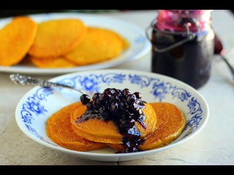 Buckwheat Pancakes with Blueberry-Lemon Compote