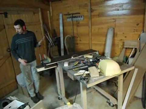 scie sur table diy essai du chariot ras de lame youtube. Black Bedroom Furniture Sets. Home Design Ideas